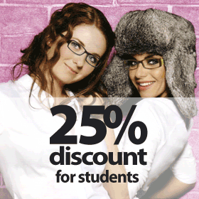 25 Student Discount
